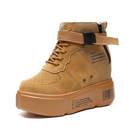 17db75c146a49 Amazon.com: DETAIWIN Womens High Top Sneakers Lace-up Platform Faux ...