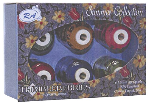 Robison-Anton Thimbleberries 6-Pack Cotton Thread Collection, Summer