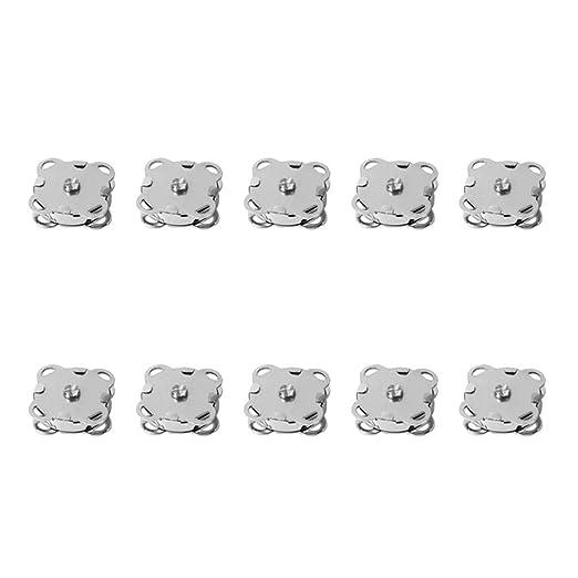 Healifty 10pcs botones a presión magnéticos botones a ...