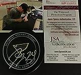 Jake Allen St Louis Blues Autographed Signed OFFICIAL GAME Puck JSA Witness COA