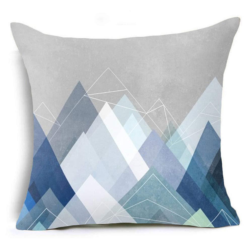 1 Colorflash Amesii Letter Flower Geometric Pattern Throw Pillow Case Cushion Cover Home Sofa Decor