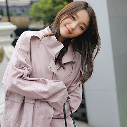 Windbreaker Long And Female Pink Spring nbsp;Female Large Jacket Jackets Loaded amp; Wind Coats SCOATWWH Women'S Female F5qaBg