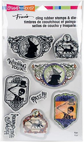 (STAMPENDOUS Halloween Labels Stamp & Die)