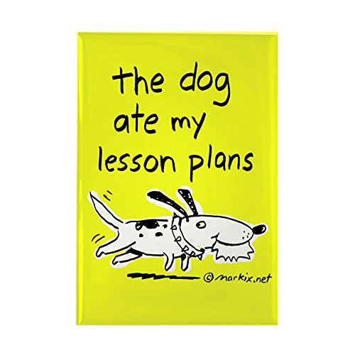 CafePress The Dog Ate My Lesson Plans - Magnet (Yellow) Rectangle Magnet, 2