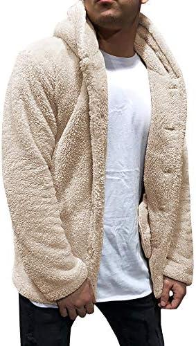 ボア ジャケット メンズ フード付き ブルゾン もこもこ アウター オーバーサイズ アメ カジ カジュアル アウトドア 厚手 防寒 暖かい 冬