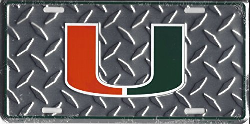 - University of Miami Collegiate Embossed Vanity Metal Novelty License Plate Tag Sign