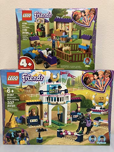(LEGO Friends Stephanie's Horse Jumping & LEGO Friends Mia's Foal Stable)