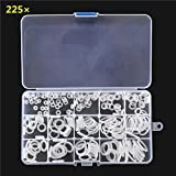 New 225Pcs White Air Conditioning O-Ring Rubber Rings Waterproof Washer