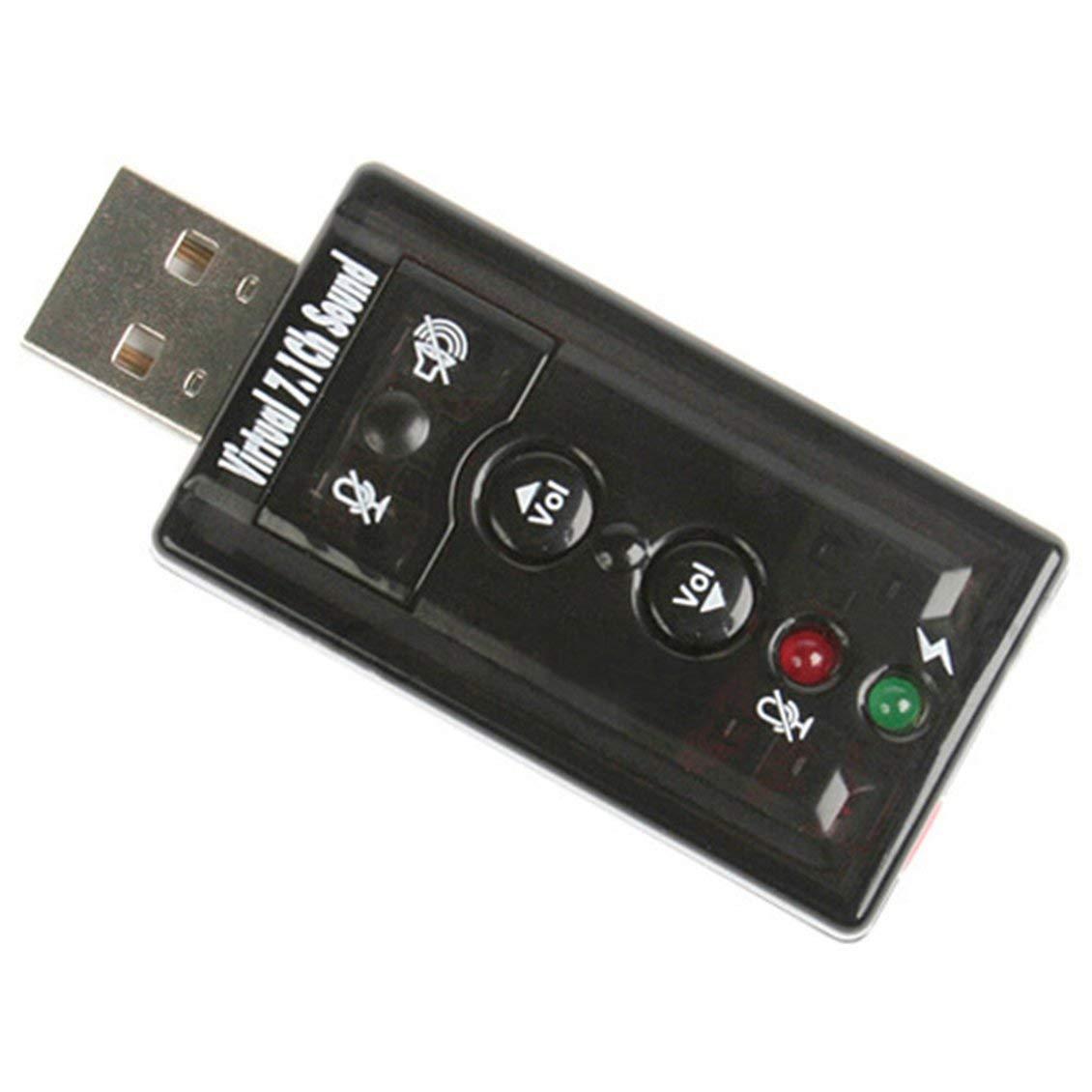 Satbir Alangh USB7.1 Tarjeta de Sonido Independiente Tarjeta ...