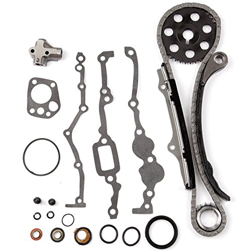 (ECCPP TK3005 Fits Nissan PICKUP 240SX 2.4L SOHC KA24E 1989-1997 Timing Chain Kit With Gaskets and Oil Seal)