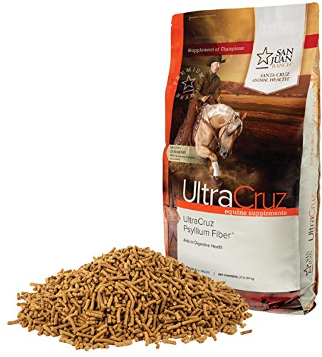 UltraCruz Equine Psyllium Fiber Supplement for Horses, 20 lb. Pellets (64 Day Supply) ()