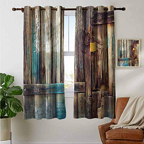 - Customized Curtains Rustic,Color Details Mansion,Blackout Draperies for Bedroom Living Room 42