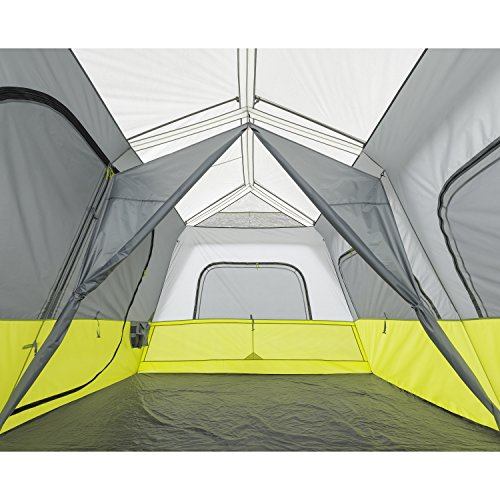 CORE 10 Person Instant Cabin Tent with Screen Room – 14.5′ x 14′