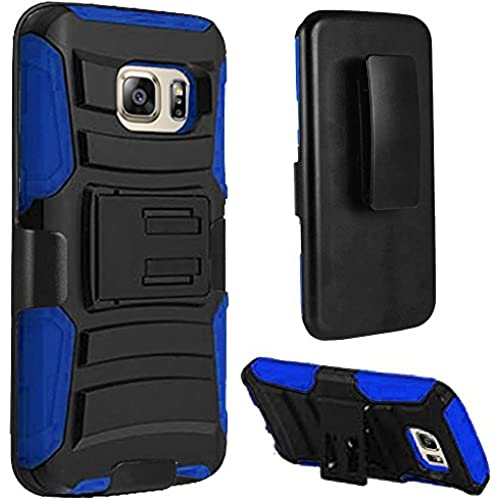 HR Wireless Carrying Case for Samsung Galaxy S7 - Retail Packaging - Black/Blue Sales