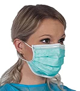 1 Pack of 10 Face Dust Mask Medical Salon Earloop Disposable Sterile 3ply Filter