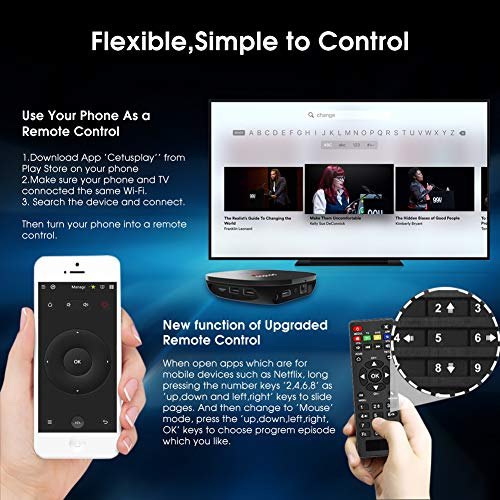 Android TV Box, Pendoo A95X Android 8 1 TV Box 2GB RAM 16GB ROM, Amlogic  S905W Quad-Core Android TV Box WiFi 2 4GHz 4K/3D/H 265 Android Box LED