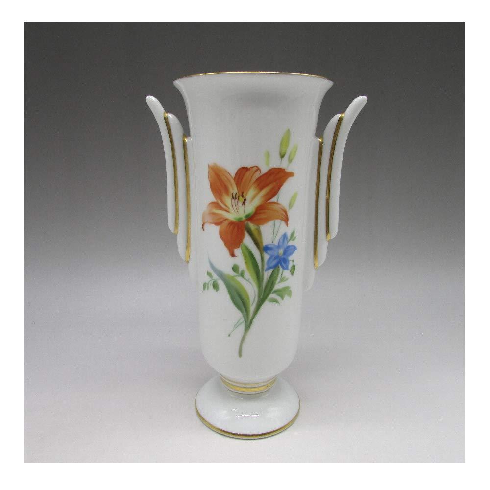 オールドノリタケ : 赤花文花瓶 【 1921年頃 - 1941年頃 】【 ヴィンテージ 】 B07SMZ7LDQ
