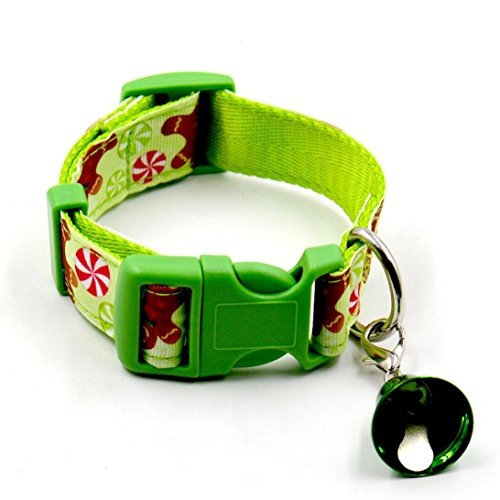 [Dog Collar, Bolayu Christmas Design Christmas Pet Collars (L, Mint Green)] (Cute Couples Halloween Outfits)