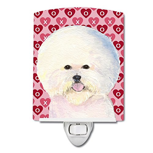 Caroline's Treasures Bichon Frise Hearts Love Valentine's Night Light 6