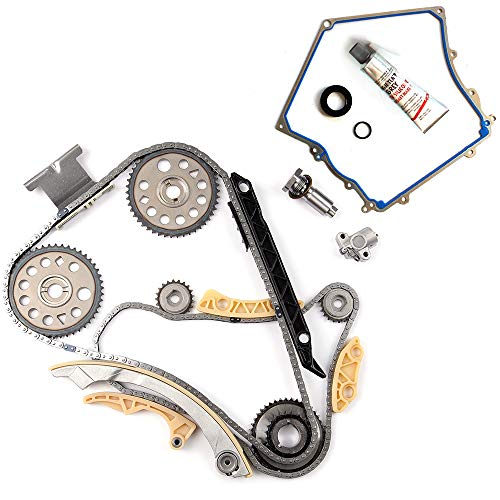 cciyu Engine Timing Chain Kit(TK10422) Timing Cover Gasket Set for 04-13 Pontiac G5 Chevrolet Buick Saturn Vue 2.0L 2.2L