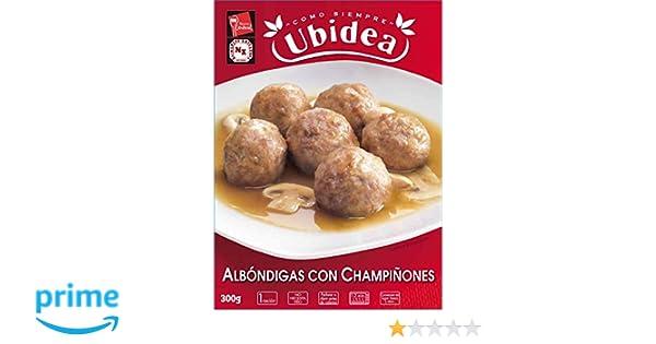 Albóndigas con Champiñones - Ubidea - 3 platos: Amazon.es: Alimentación y bebidas