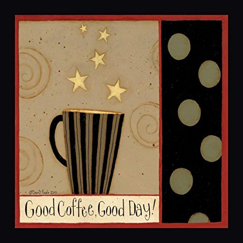"""Good Cup by Dan DiPaolo - 16"""" x 16"""" Framed Giclee Canvas Art Print - Ready to Hang"""