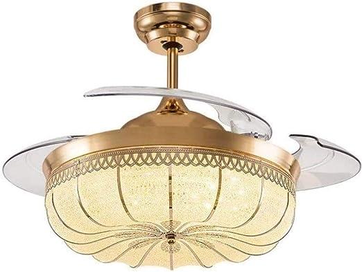 TJLSS Ventilador de Techo de luz LED de la lámpara de Techo ...