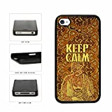 Yellow Damask Buddha At Peace Keep Calm Plastic Phone Case Back Cover Apple iPhone 4 4s