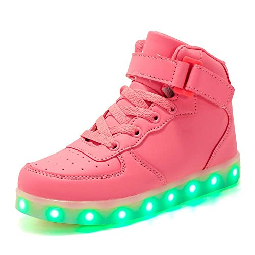 timeless design f9a84 a17bf DULEE Unisex-Kinder und Erwachsene LED Sportschuhe Sneaker Low Top  Leuchtschuhe Leuchtend Turnschuhe Aufhellen Blinkschuhe USB Aufladung Schuhe