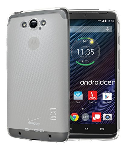 TUDIA LITE TPU Bumper Protective Case for Motorola DROID Turbo (Verizon) (NOT Compatible with Ballistic Nylon Version) (Frosted Clear)
