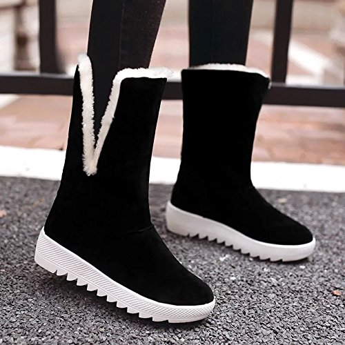 In Flat Female Tube Casual Snow black Boots Boots Warm Women Shoes EIwqaT8