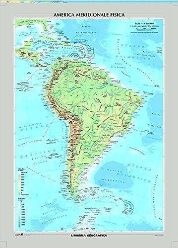 Cartina Geografica Sud America Politica.Amazon It Sud America Fisica E Politica Carta Murale Libri