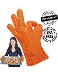 Eco Life Ice Power Best Heat Resistant Silicone Gloves For Cooking Barbecue Grilling Boiling Excellent Oven Mitts For Outdoor And Kitchen Use