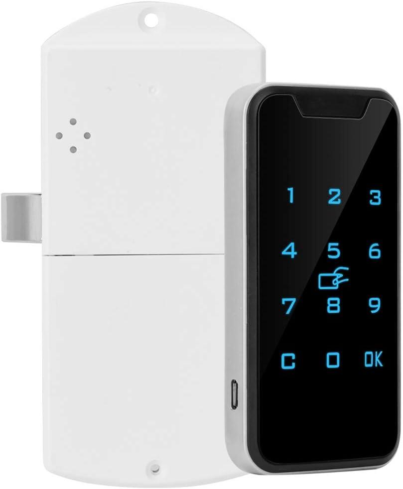 Electronic Cabinet Lock, Smart Digital RFID Password Lock Touch Keypad Electronic Wardrobe File Cabinet Lock