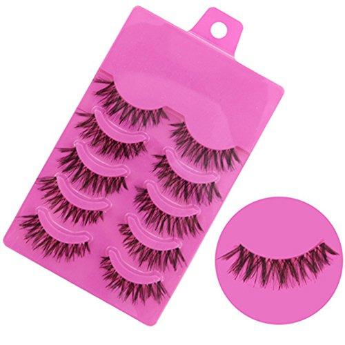 Bluelans-5-Pairs-Messy-Cross-Fake-Eye-Lash-False-Eyelashes-Extension-Makeup