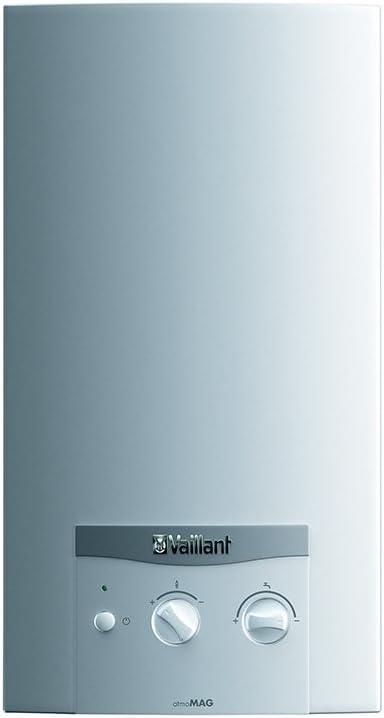 Vaillant atmoMAG mini 11–0/1x calentador a tiro Natural con Encendido Electrónico A Batería, Blanco