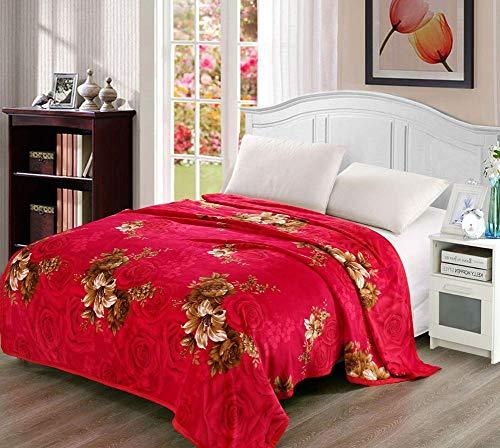 Smibra Kids Plush Flannel Fleece Blankets Beautiful Floral