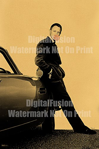 (Digital Fusion Prints James Bond 007 (Daniel Craig) Bubblegum Poster by X-Arnet printed on an amazing Gold Metallic Paper 24