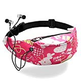 Fanny Pack casual and sporty colorful Waist Packs, unisex, Hobos bag with Headphone Jack, Waterproof Belt Bag for Travel in Outdoors Sport Workout Traveling Running Hiking Cycling G (O)