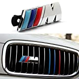 BMW M Front Grille Emblem, 3D Chrome Badge Metal Power Car Fashion Logo for BMW M M3 M5 X1 X3 X5 X6 E30 E34 E36 E39 E46 E60 E90 E92