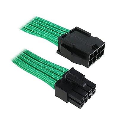 BitFenix 8 Pin EPS12v 45cm - Cable de alimentación EPS 8 pin, negro y verde