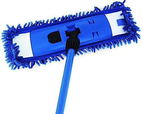 Cleankly 360 Degree Professional Microfiber Flat Mop 18'' Stainless Steel Extendable Handle Wet or Dry Mop For Home Kitchen Hardwood Laminate Floors Cleaning by Cleankly (Image #2)