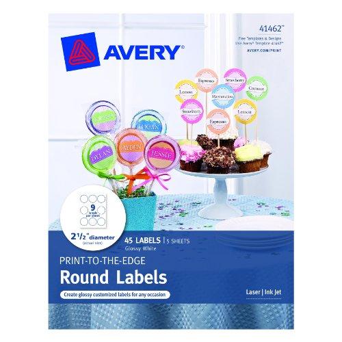 Avery Print Labels Diameter 41462