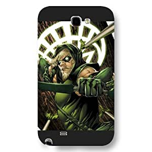 Onelee Green Arrow Custom Phone Case for Samsung Galaxy Note 2, DC comics Green Arrow Customized Samsung Galaxy Note 2 Case, Only Fit for Samsung Galaxy Note 2 (Black Frosted Shell)