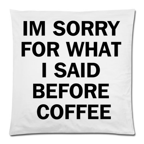 Honey Cushion Cover Im Sorry for What I Said Before I Had My Coffee Decorative Pillow Case Protector 18x18 Inch ()