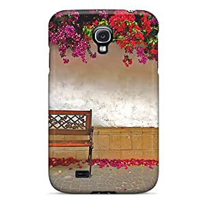 Top Quality Protection Bench Under Colorful Leafs Case Cover For Galaxy S4