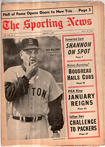 The Sporting News Newspaper Aug 5, 1967 A Fever in Fenway Red Sox' Dick Williams GOOD