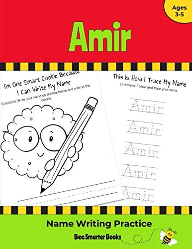 Amir Name Writing Practice: Personalized Name Writing Activities for Pre-schoolers to Kindergartners