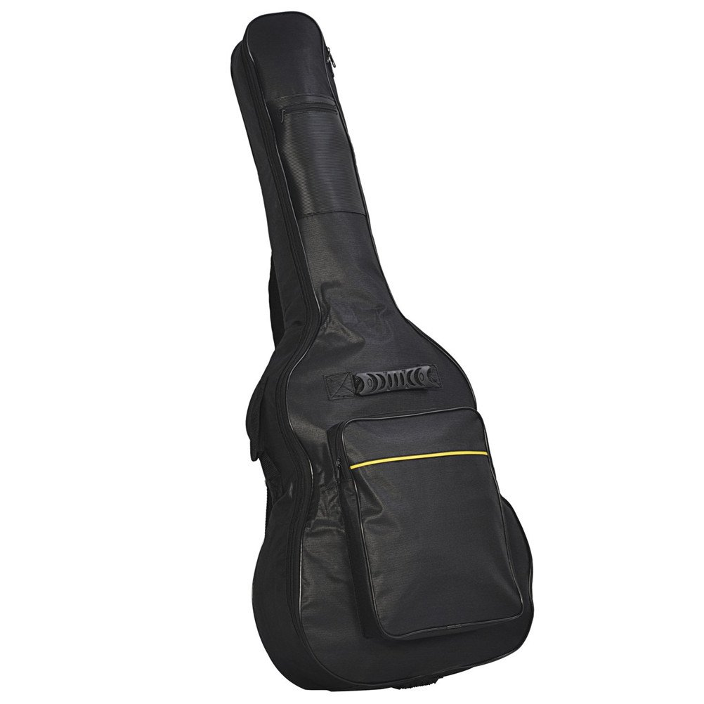 ROSENICE Waterproof Guitar Bag Folk Guitar Carrying Case Oxford Cloth 41 inch (Black)