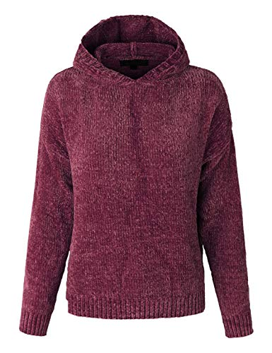 makeitmint Womens Super Soft Rib Chenille Hooded Knit Sweater Top [6 Colors]
